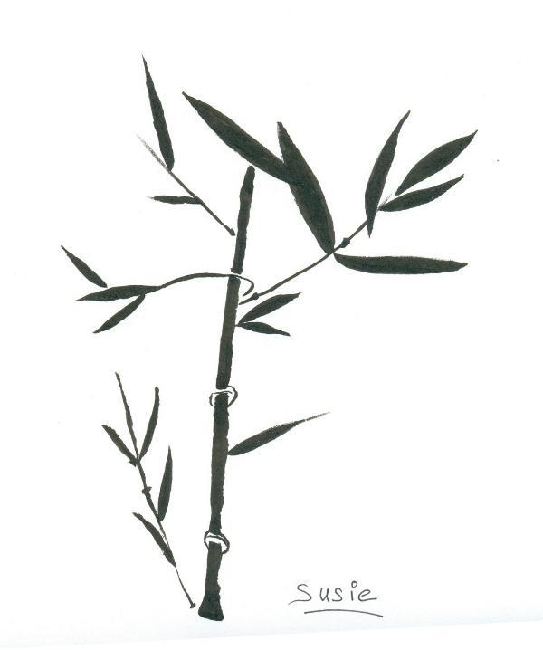 Peinture Chinoise Bambou Dessins